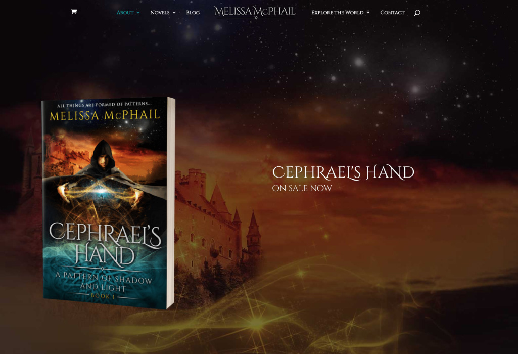 Melissa McPhail Author Website - Home Page - The Online Author - Projects
