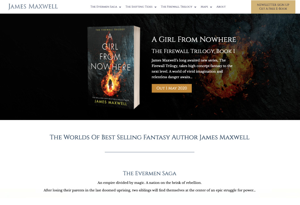 James Maxwell Author Website - Home Page - The Online Author - Projects