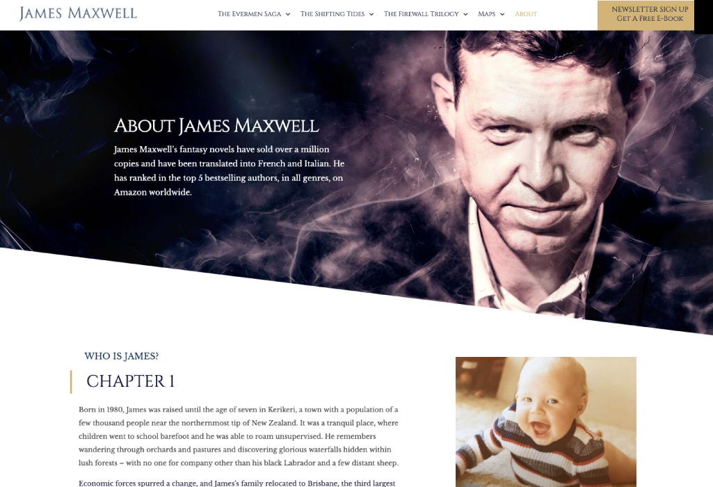 James Maxwell Author Website - About - The Online Author - Projects
