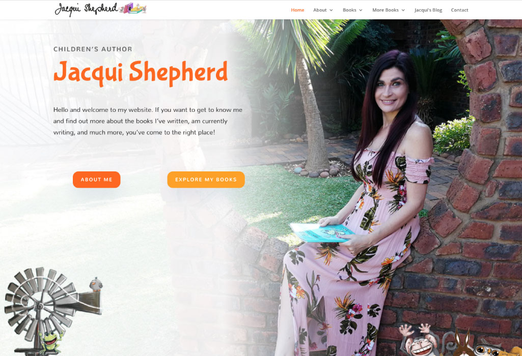 Jacqui Shepherd Author Website - Home Page - The Online Author - Projects
