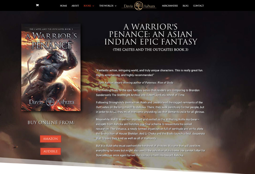 Davis Ashura Author Website - Books - The Online Author - Projects