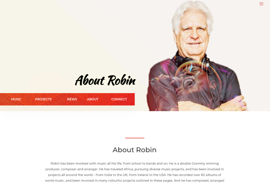 Robin Hogarth Artists Website - About - The Online Author - Projects